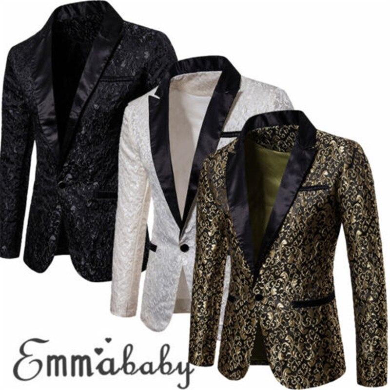 Slim Fit Blazer Men 2018 New Arrival Mens Floral Blazers Floral Prom  Blazers Elegant Wedding Blazer