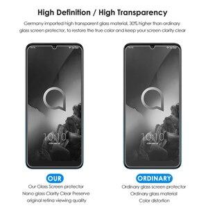 Image 4 - מגן מזג זכוכית עבור Alcatel 3 3L 2019 מסך מגן Versa U5 5V 3X3 V 3C 1X5 7 טלפון כיסוי זכוכית סרט