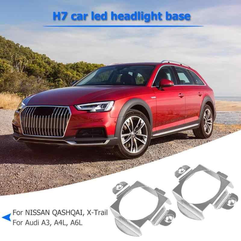 Vodool 2 Pcs H7 Mobil LED Headlight Bulb Adaptor Basis Pemegang untuk Mercedes-Benz BMW Audi Headlamp Socket Punggawa klip Untuk VW Nissan