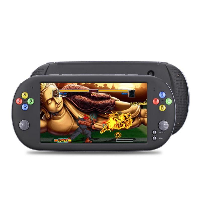 """ALLOYSEED X16 7"""" Portable Video Game Console 8GB Retro Classic Handheld Game Player TV Output MP5 Game Machine For Neogeo Arcade"""