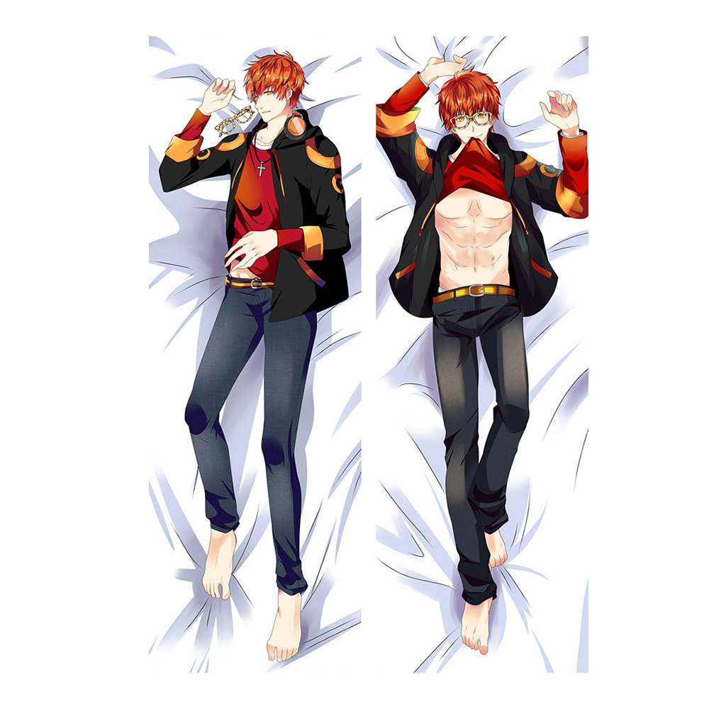 Anime Game Mystic Messenger Hugging Body Pillow Case Cover Male