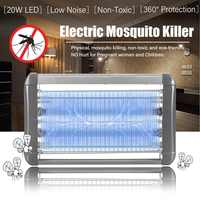 220V Electric Mosquito Killer Lamp 20W Indoor LED Light Anti Insect Killing Wasp Bug Fly Zapper Traps for Bedroom Outdoor Garden