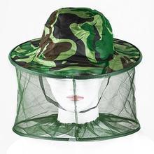 في الهواء الطلق المهنية البعوض علة الحشرات النحل المقاومة صافي شبكة رئيس واقي الوجه قبعة قبعة