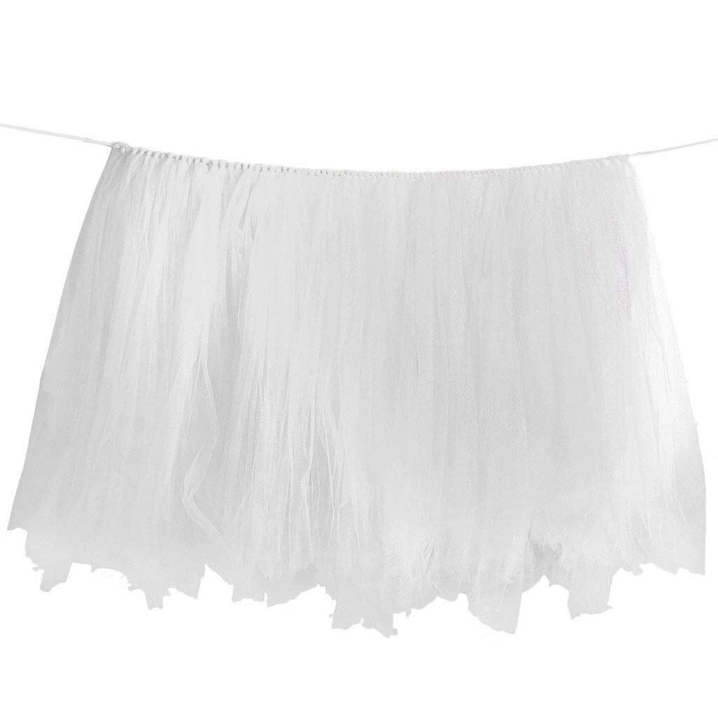 JEYL Birthday Wedding Baby Shower Table Tulle Tutu Skirt Decoration