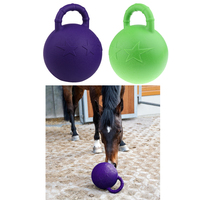 : 2Pcs Horse Pony Dog Jolly Ball Toy Play Game Balls Rubber with Apple Scented