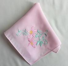 26*26cm Silk square Handkerchief embroidered hand tea face children lace cooling ladies hanky Wedding gift Dinner towel