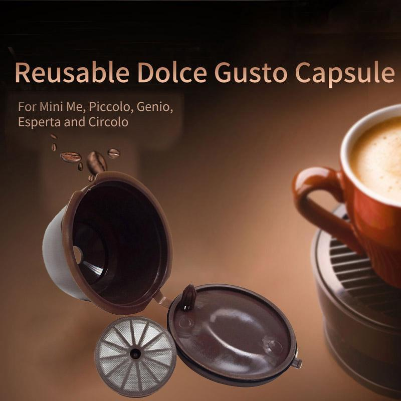 1Pc Professional Refillable Coffee Filter for Dolce Gusto Sweet Taste Reusable Coffee Capsule Plastic PP Basket A301Pc Professional Refillable Coffee Filter for Dolce Gusto Sweet Taste Reusable Coffee Capsule Plastic PP Basket A30