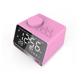 Image 1 - ポータブルスピーカー X11 スマートデジタルアラーム時計傷のつきにくいミラー Bluetooth プレーヤーステレオ Hd 音 Devies ホームオフィス