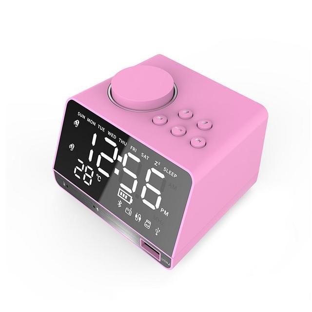 휴대용 스피커 x11 스마트 디지털 알람 시계 스크래치 방지 미러 블루투스 플레이어 스테레오 hd 소리 홈 오피스