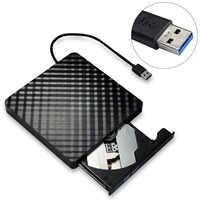 Disco óptico corrugado externo USB 3,0 de alta velocidad delgado con quemador de DVD para cualquier ordenador portátil
