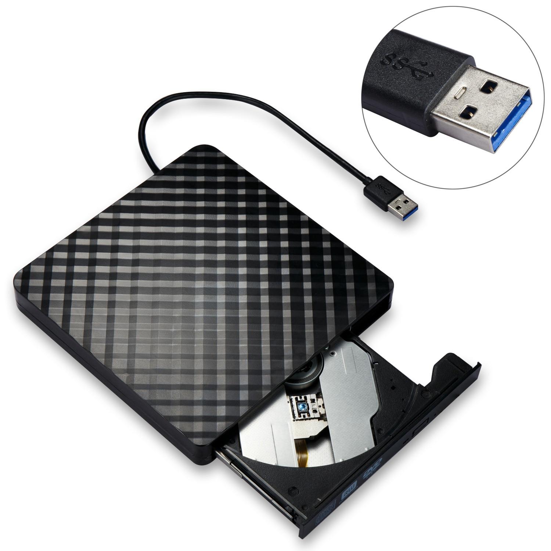 Externo USB 3.0 de Alta Velocidade de papelão ondulado Slim DVD Burner Drive Óptico Para Qualquer computador portátil desktop