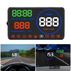 Smart 5.5 cal HD M9 wyświetlacz HUD alarm przekroczenia prędkości pomiar odległości przy użyciu OBD2 i EUOBD wyświetlacz head up w Wyświetlacz projekcyjny od Samochody i motocykle na
