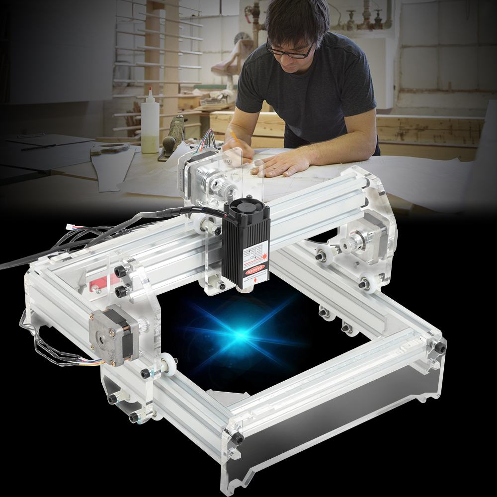 20x17 см 2000 МВт лазерная гравировка машина DIY комплект резьба инструмент гравер Настольный деревянный маршрутизатор/резак/принтер + Лазерные
