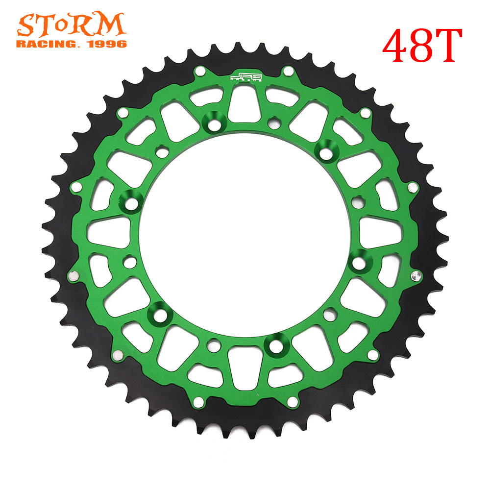 42 44 46 47 48 49 50 51 52 T Teeth Motorcycle Steel Aluminum Composite Rear Sprocket For KAWASAKI <font><b>KX</b></font> KLX KDX <font><b>125</b></font> 200 250 300 500 image