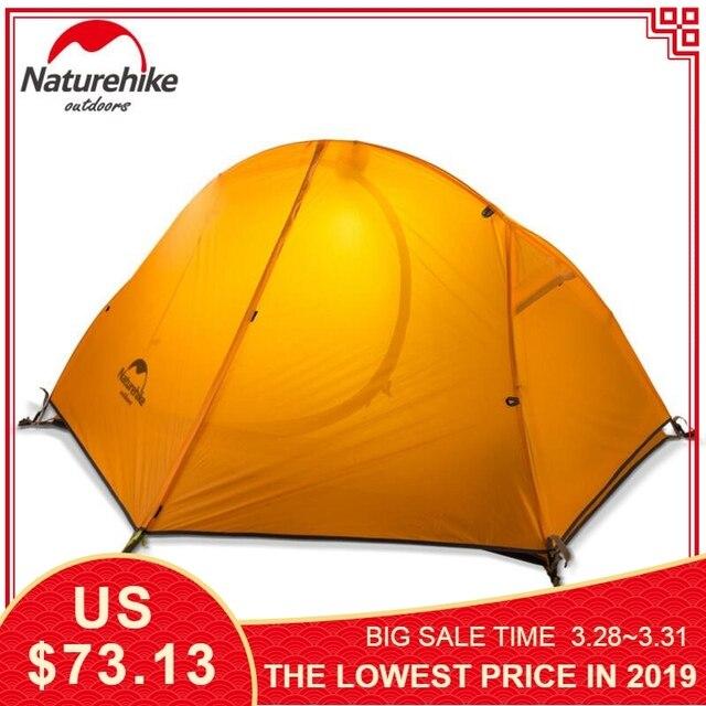 NATUREHIKE Ultralight Hiking 1 Person Outdoor Camping Tent Trekking  Single 4 season Cycling Waterproof Windproof Tourist Tents