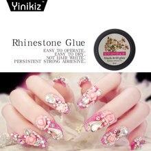 Yinikiz New Glue Rhinestone Nail Decorations UV Gel Nail Polish Super Sticky  Art Gel Nail Varnish Clear Lacquer a0d1c61fcce6