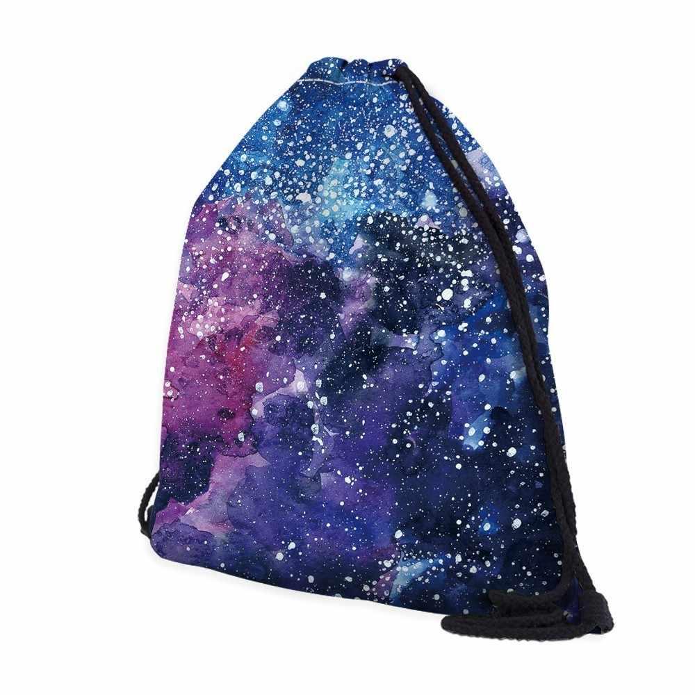Deanfun сумка на шнурке космический узор Мода для мужчин Путешествия 60118