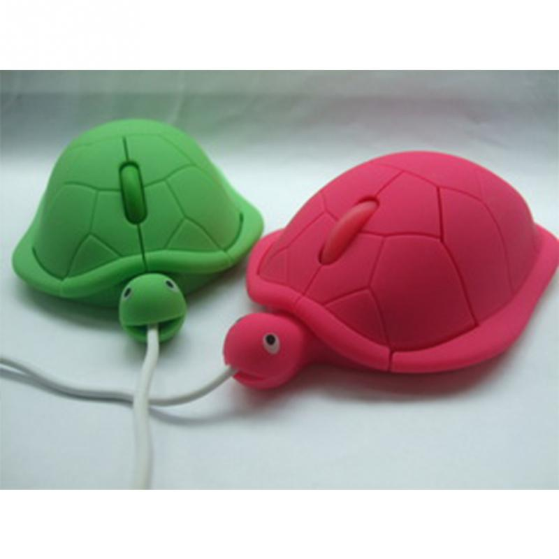 Cute Animal Wired Mouse USB 3D Turtle Optical Mice Mouse For Computer PC Mini Pro Sea Turtle Silicone Gaming Mouse #4