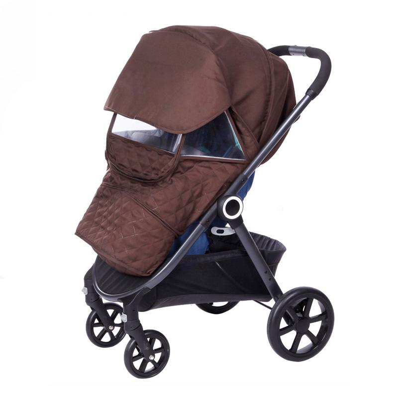 Baby Stroller Thicken Warm Cover Kid's Cart Universal Size Rainproof Windproof Snow-Proof Dust Proof Sunshade Waterproof Cover