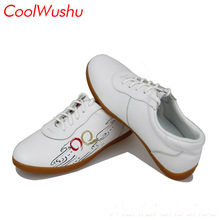 Китайская обувь тай-чи обувь кунг-фу обувь wu shu xie taiji xie коровья кожа боевые искусства обувь CoolWushu упругой Женщины и мужчины