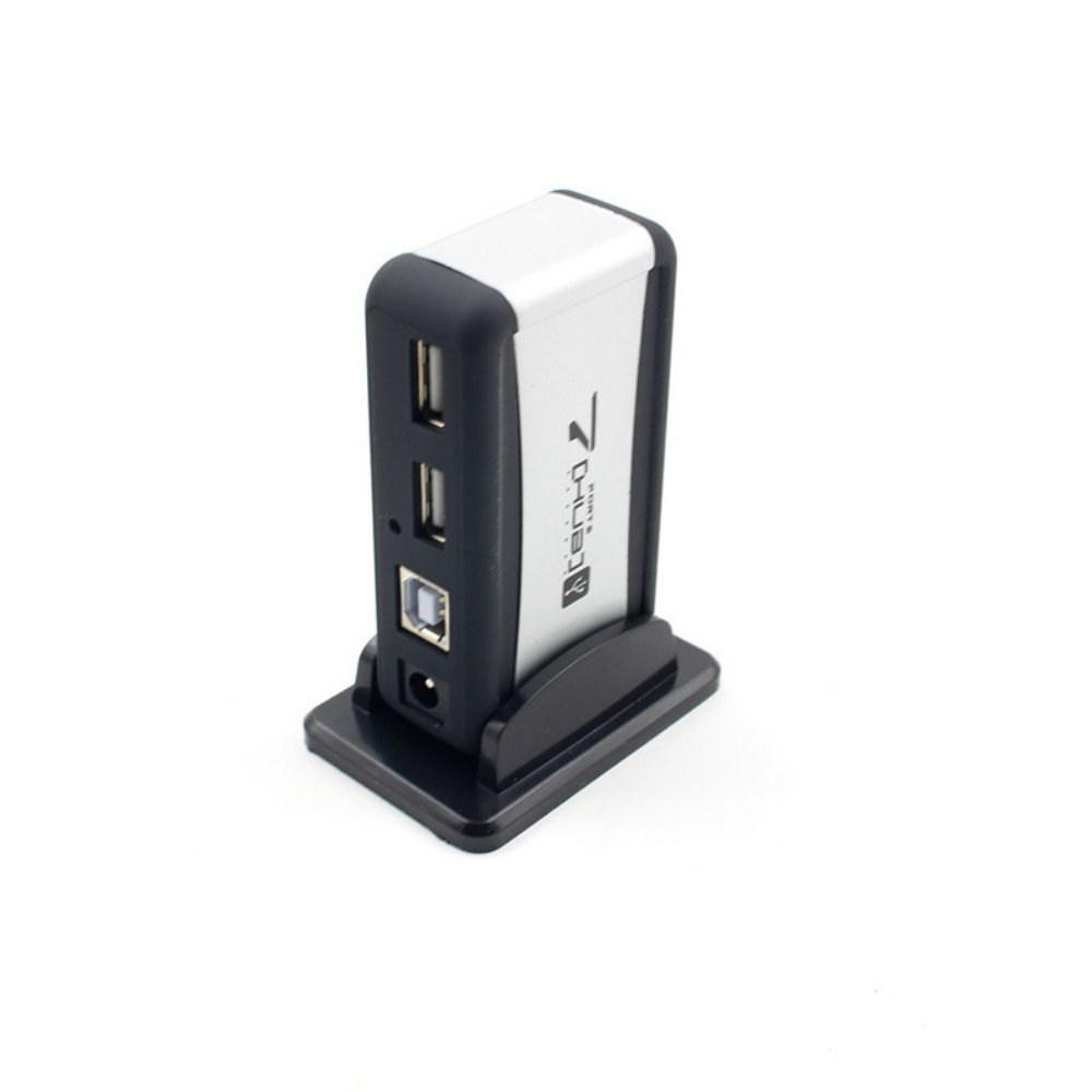 Image 2 - USB HUB 2.0 4/7 Ports Micro USB 2.0 HUB Splitter With Power Adapter USB Hab High Speed 480Mbps USB Splitter 3 HUB For PC-in USB Hubs from Computer & Office