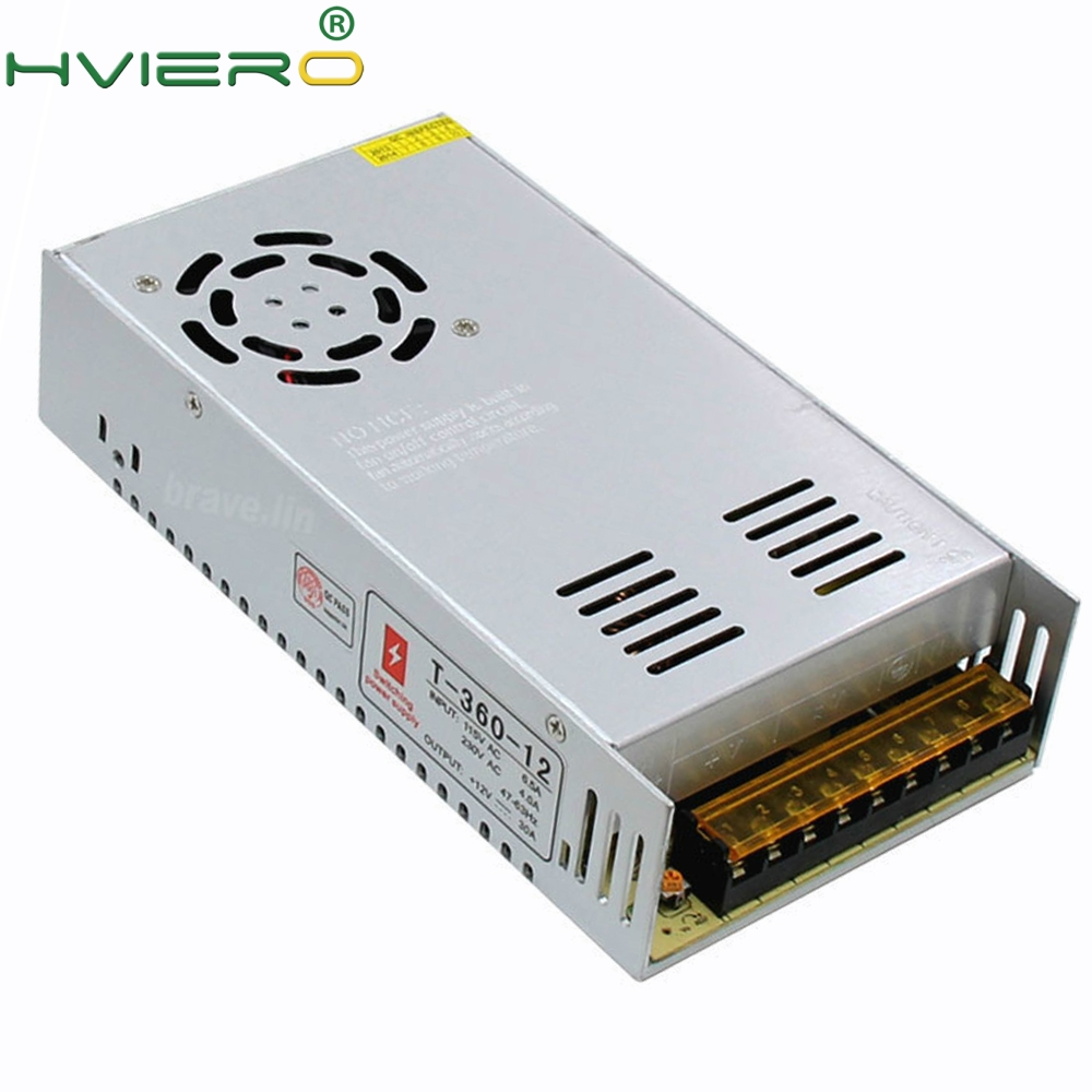 AC 110/220V to DC 12V 30A 360W Power Supply LED Driver Transformer Adapter 12v 220v Converter For 5050 3528 3014 LED Strip Light 12v dc lighting transformer power supply switch adapter ac 110 220v to dc 12v 20a 250w led driver for led strip lights
