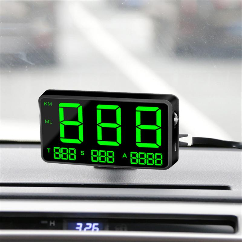 "Large Screen 4.5"" GPS Speedometer Digital Car Speed Display Over Speeding Alarm System Universal For Bike Motorcycle Truck Car"