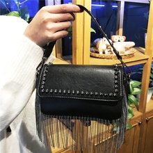 купить Vintage Fashion Skull Women Messenger Bag Rivet Clutch Bags Envelope Crossbody Punk Tassel Shoulder Bag Sac A Main по цене 1281.78 рублей