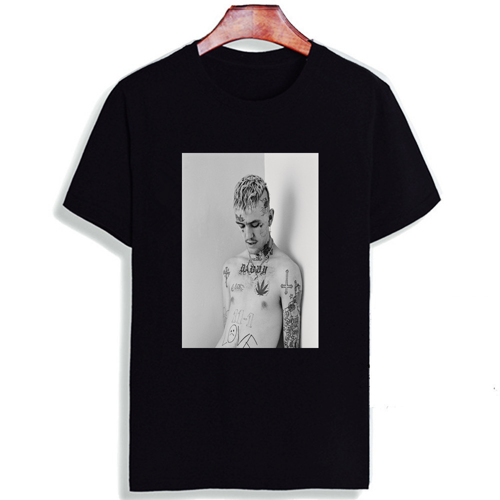 7e2d3be0caa Fashion Short Sleeve T Shirt Lil Peep Classic Figure Singer Printed 100%  Cotton Top Tees