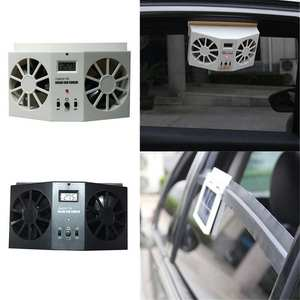 2 Colors Car Solar Powered Exhaust Fan High-power Dual-mode Power Supply