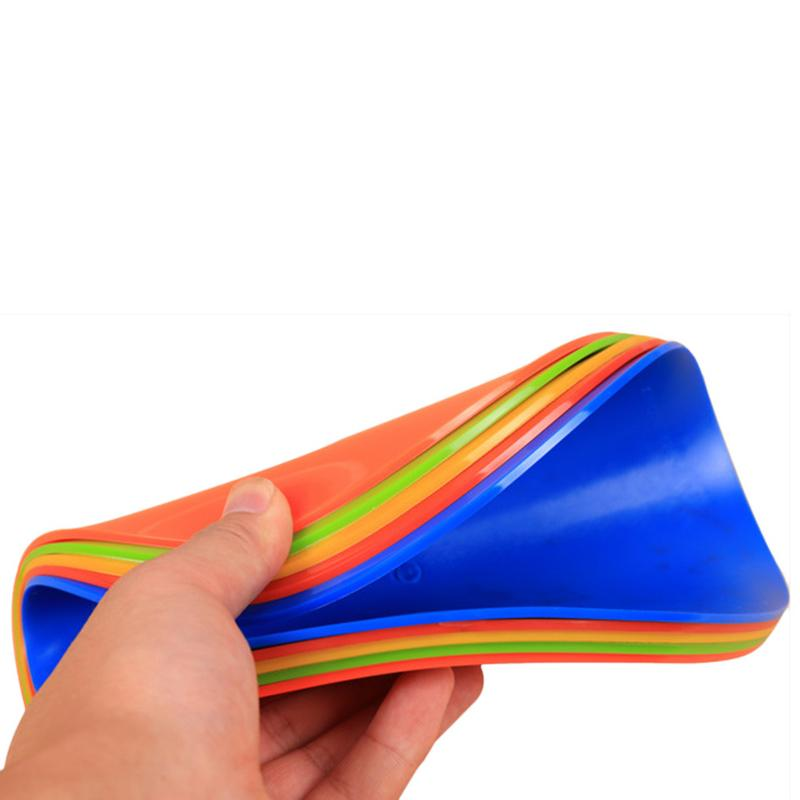 CENTRAL Flat Cones Training Spot Markers Football Pitch Floor Discs Sports