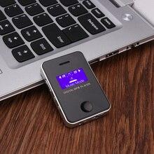 Mp3-плеер динамик 1,1 дюймов экран спортивный цифровой компактный и портативный мини MP3 Макс поддержка 16 Гб Micro SD карта с зарядным кабелем