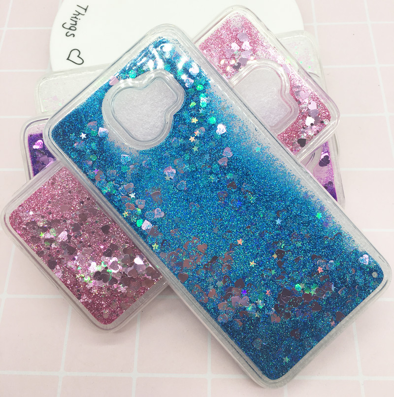 Bling Dynamic Liquid Quicksand Soft TPU Case for Samsung A6 A8 2018 Glitter Silicone PC Back Cover For Samsung Galaxy Note9 S9