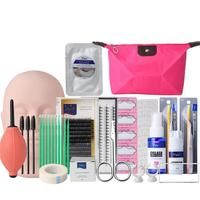 2018 NEW Set Eyelash Extension Kits False Lashes Tool With Bag For Makeup Cilios Practice Eye Lashes Graft Kit