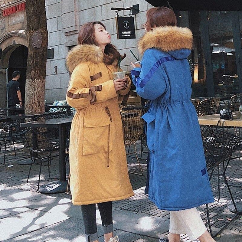 Capuchon Lâche Bf Arc D'hiver Épaissir Tempérament Le Mode Nouvelles Veste Coton De Survêtement Manteau Col À Femmes Overknee Grand Fourrure Bas Chaud Vers Uw4XwSqa