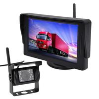 Car Night Vision Car Rear View System Waterproof Camera Auxiliary Stop Line 4.3 Inch Monitor 2.4GWireless