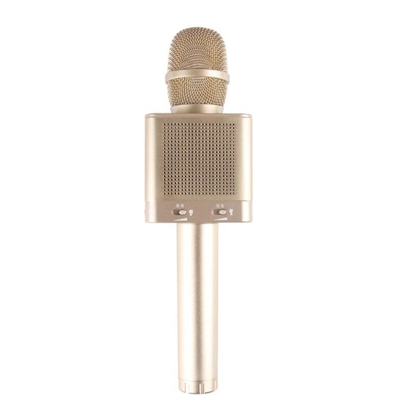Q10S Microphone karaoké sans fil 2.1 suivi sonore dimensionnel son changement de voix 4 haut-parleurs Smartphone