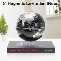 6'' Magnetic Levitation Rotating Geography Globe Floating World Earth Map Anti Gravity Teuulrion Kids Gift Children Education