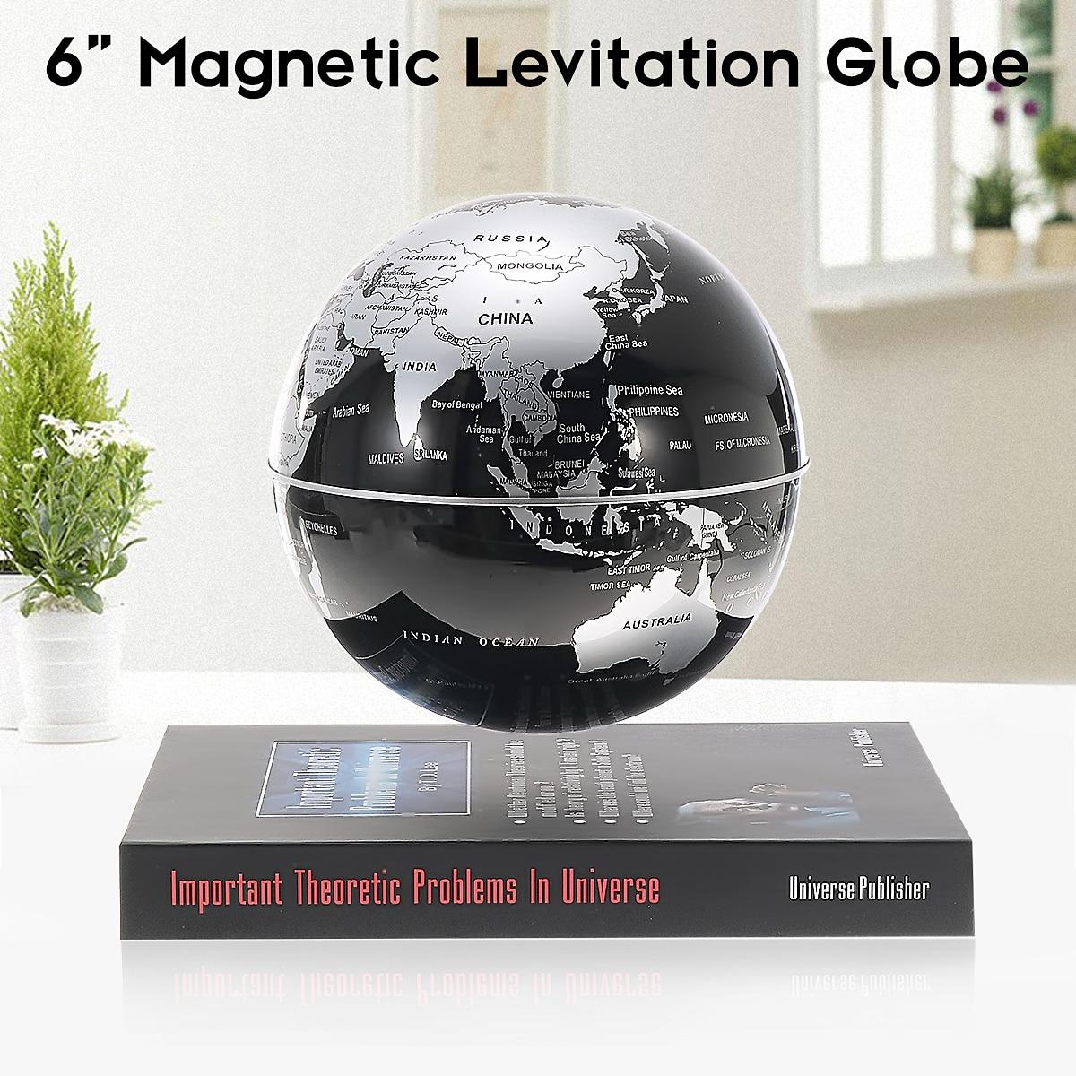 6 ''lévitation magnétique rotation géographie Globe flottant monde terre carte Anti-gravité Teuulrion enfants cadeau enfants éducation