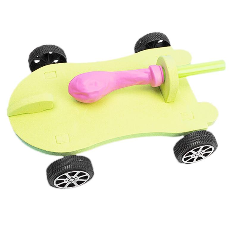 Diy Ballon Aangedreven Auto Terugslag Kracht Wetenschap Technologie Experiment Studenten Speelgoed Nourishing The Kidneys Relieving Rheumatism