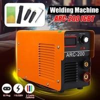Portable 100V~220V IGBT DC Inverter Welding Machines ARC Welders IGBT MMA Welding Machine 120/160/200/250 Amp for Home Beginner