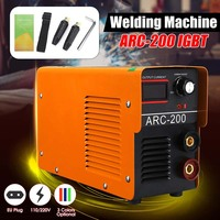 Portable 100V~220V IGBT DC Inverter Welding Machines ARC Welders IGBT MMA Welding Machine 120/160/200/250 Amp for Home Beginner