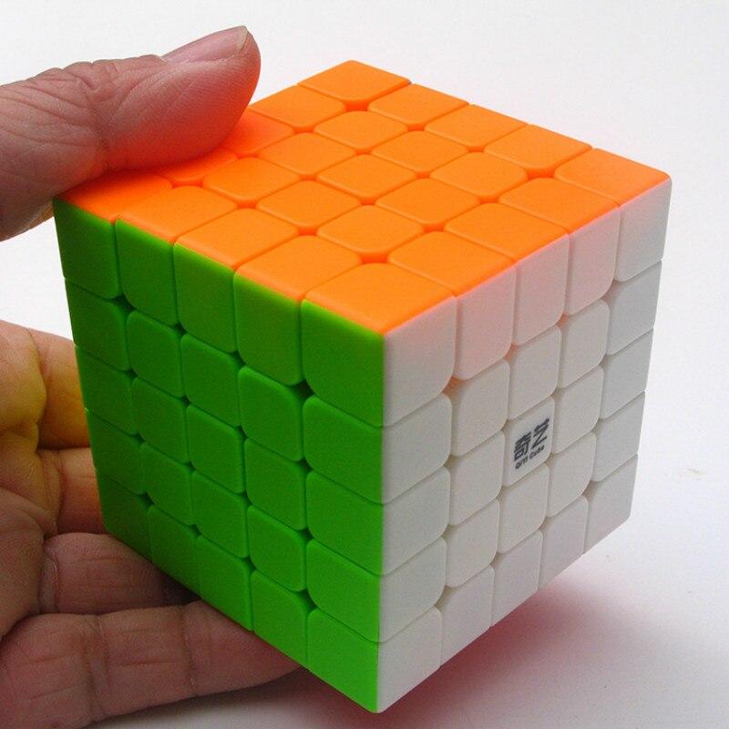 Qiyi 5x5x5 Order 6*6*6cm Magic neo Cube Solid Color Shun Slippery Children Early Childhood educational Toys fidget spinner Sale Неокуб
