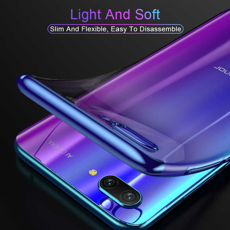 Mewah Ultra Tipis TPU Capa Silikon Lembut Case untuk Huawei Mate30 P30lite P20lite Nova5T Kehormatan 9X V20 P30 P20 shell Cover Funda