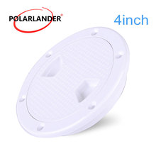 1 Piece ABS No Screw For Boat Yacht Marine Inspection Tight Access Hatch Cover 4/6/8 Inch Anti-corrosive Round White Deck Plate