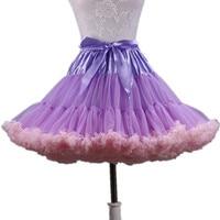 2019 New Arrival Women Pettiskirt Tutu Womens Tutu Skirts Party Dance Adult Skirt Color Stitching Mesh Sexy Mini Skirts SK006