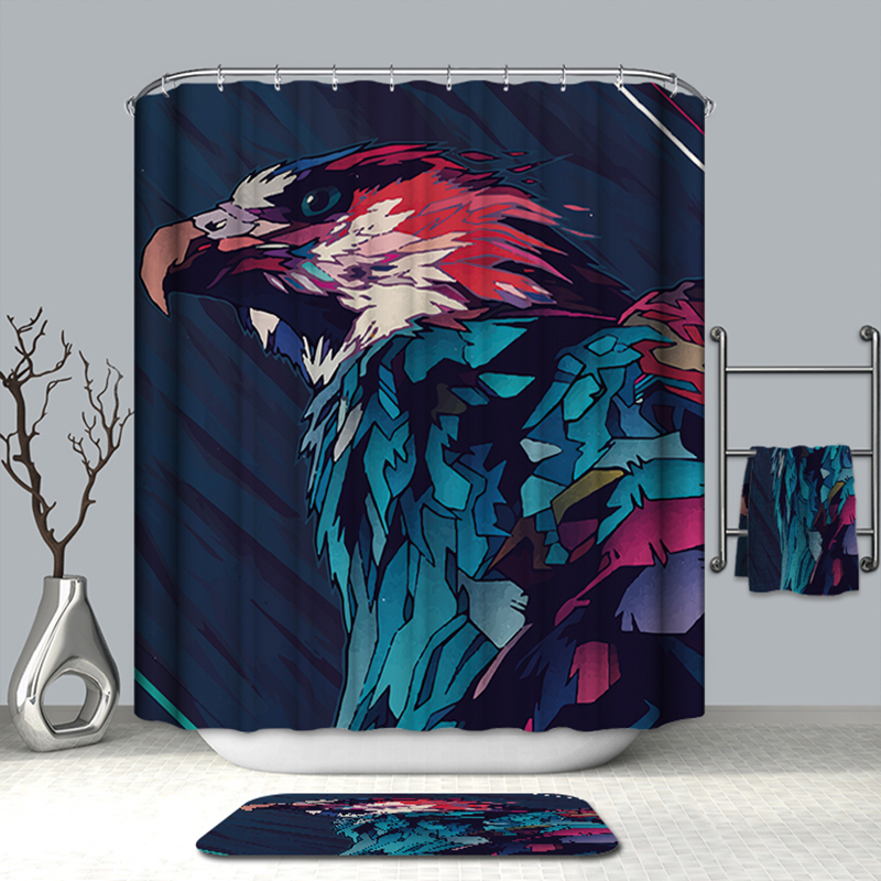 Image 4 - VOZRO Bath Natural Quality Of Bathroom Waterproof Totem Animal Farm Miniatures Bape Pascoa Simple Shower Curtain Douchegordijn-in Shower Curtains from Home & Garden