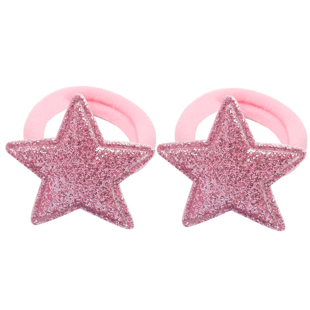 Xugar 12 Pcs/lot Hair Accessories Hair Scrunchies Glitter Rabbit/Stars/Heart/Crown Hair Bands for Girls Baby Gum for Hair Ties
