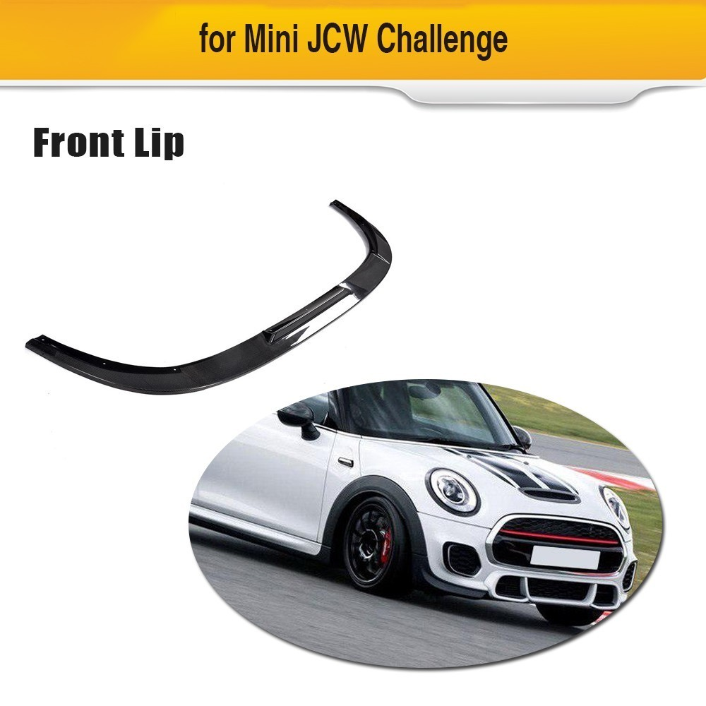 DRY Carbon Fiber 100% Car Front Bumper Lip Spoiler Diffuser For Mini JCW Challenge 2014 - 2018