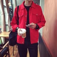 Candy color jeans jacket men Slim fit 2019 Short denim jacket White/Black/Red coat men Chaquetas hombre Jaqueta masculina A9032